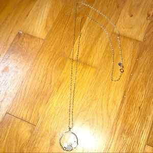 Loft Gold Necklace with Circle pendant